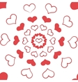 Heart seamless pattern3 vector image vector image