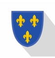 Heraldic lilies of France icon flat style vector image