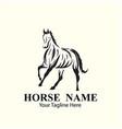 horse logo designs concept vector image vector image