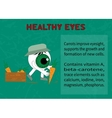 Info about the benefits of carrot for eyesight vector image vector image