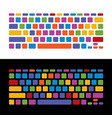 keyboard childish colorful set vector image vector image