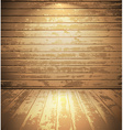 Light wooden room vector image vector image