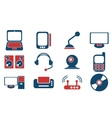 Media simply symbols for web icons vector image
