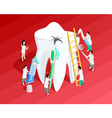 Medical Dental Isometric Template vector image vector image