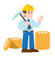 miner cripto currency bitcoin vector image
