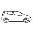 mini car compact shape for travel racing icon vector image