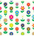modern colorful simple retro small flowers set of vector image vector image