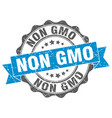 non gmo stamp sign seal vector image vector image