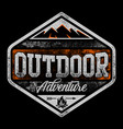 outdoor adventure - camp - campfire hiking vector image