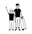 people travel vacations vector image