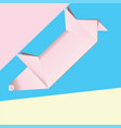 pink origami pig vector image