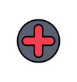 plus sign hospital medical flat color icon icon vector image vector image