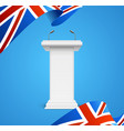 realistic 3d detailed great britain flag and vector image vector image