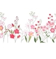 Seamless pattern brush with herbs roses and wild vector image vector image