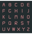 Set letters vector image vector image