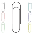 Set of Colorful Paper Clips vector image