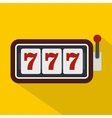 Slot machine with three sevens icon flat style vector image vector image