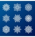 Snowflakes icons vector image vector image