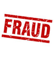 square grunge red fraud stamp vector image vector image