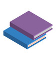 stack of school books icon isometric style vector image vector image