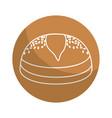 sticker delicious fresh bakery bread food vector image vector image