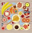 sweet menu for cofee break vector image vector image