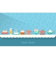 Sweets and dessert on the table vector image vector image