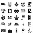 taxi icons set simple style vector image vector image