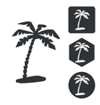 Travel icon set monochrome vector image vector image