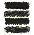 trendy bannersborders of ink brush strokes set vector image vector image