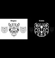 tribal bear and gepard set brown vector image vector image