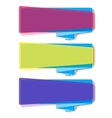 Vivid translucent plastic cards with shadows vector image vector image