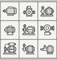 water pump icons set vector image