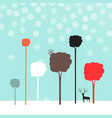winter flat design landscape vector image