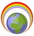 Earth globe set 005 vector image