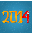 2014 New Year celebration card vector image