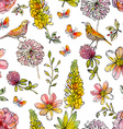 Nature seamless texture watercolor vector image