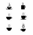 Set of Tea Cup vector image