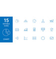 15 chart icons vector image vector image