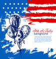 4th july background with american flag vector image vector image