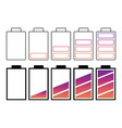 a set of batteries vector image vector image