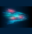 abstract digital binary matrix number technology vector image vector image