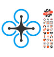 airdrone icon with dating bonus vector image vector image
