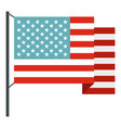 american flag icon isolated vector image