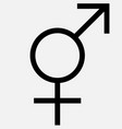 an of a combination of a venus and mars symbol vector image