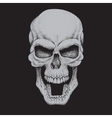 Angry skullDotwork style vector image vector image