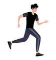 athlete a man on a run in minimalist style vector image vector image