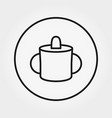 baby mug for feeding universal icon vector image