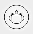baby mug for feeding universal icon vector image