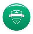 badge soldier icon green vector image vector image